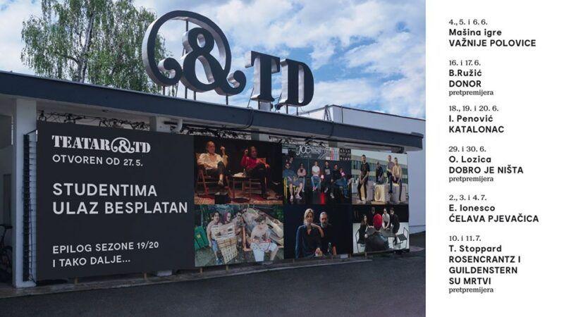 Nakon dva mjeseca stanke Teatar &TD otvorio je svoja vrata publici