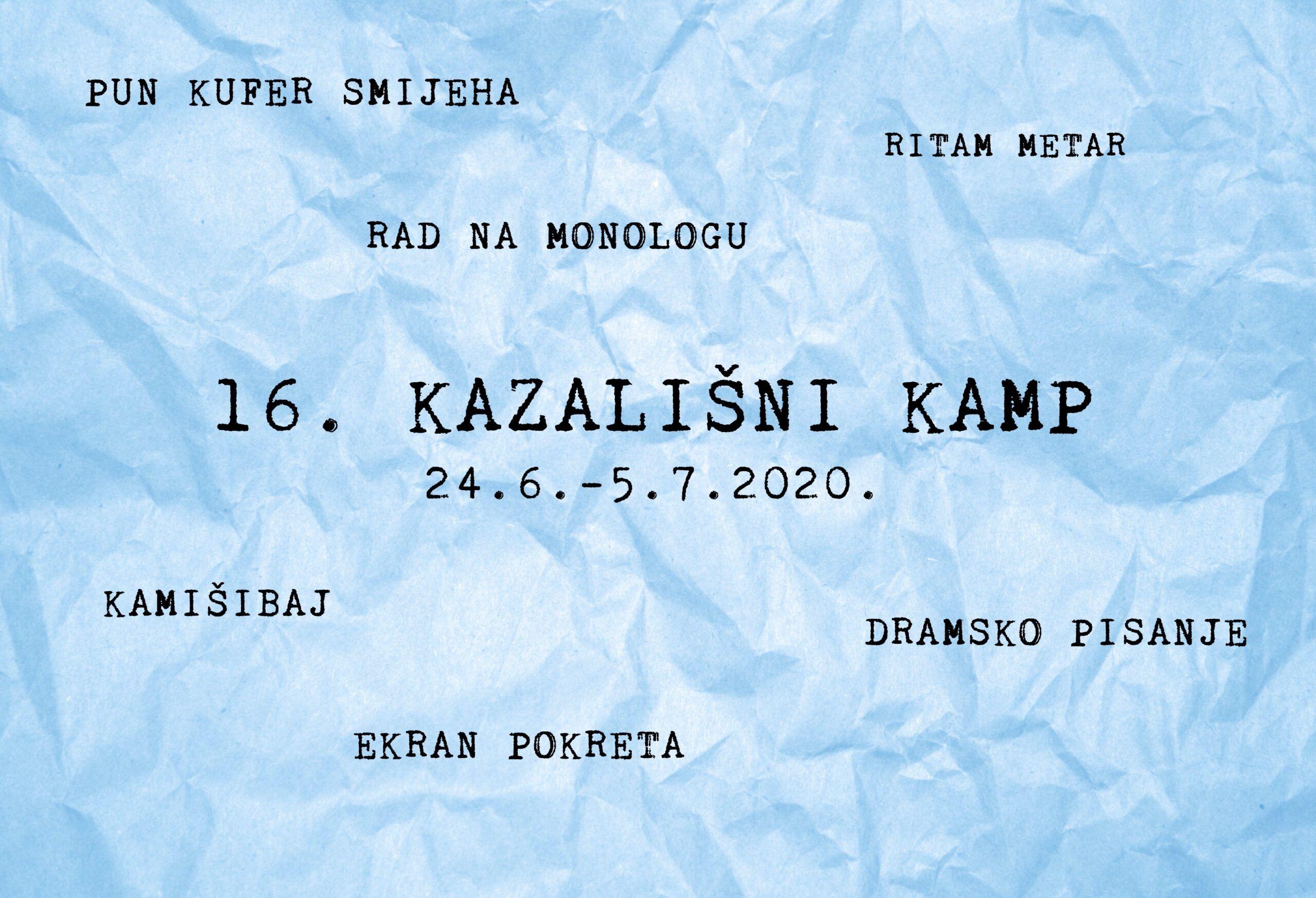 16. Tirenin Kazališni kamp online / offline