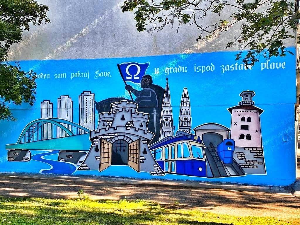 Rođen sam pokraj Save, u gradu ispod zastave plave: Osvanuo novi mural na Cvjetnom