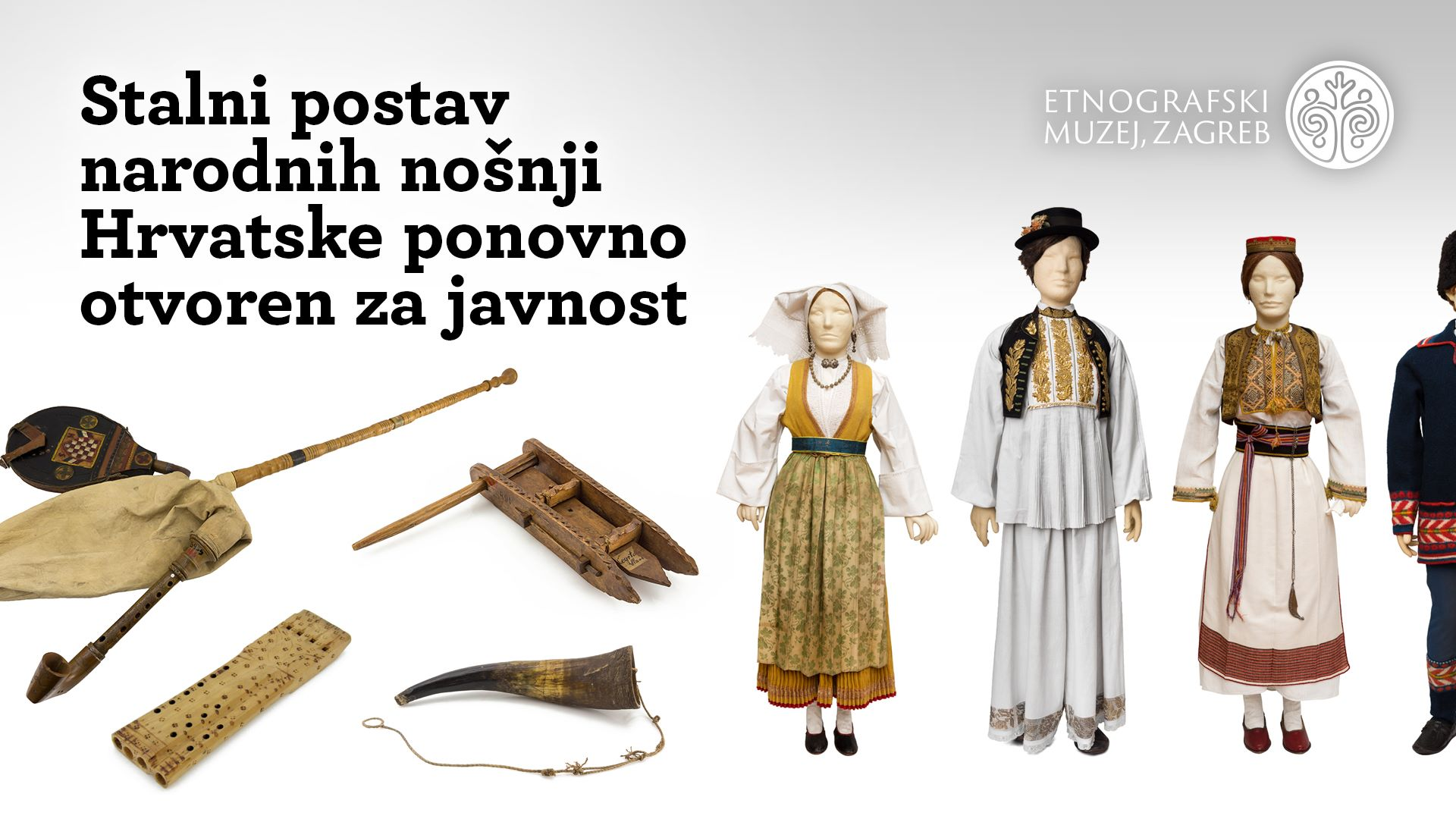 Etnografski muzej ponovno otvorio stalni postav nošnji Hrvatske