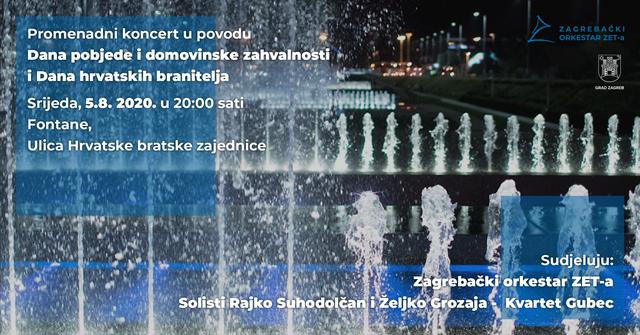 Promenadni koncert Zagrebačkog orkestra ZET-a u povodu Dana pobjede i domovinske zahvalnosti i Dana hrvatskih branitelja
