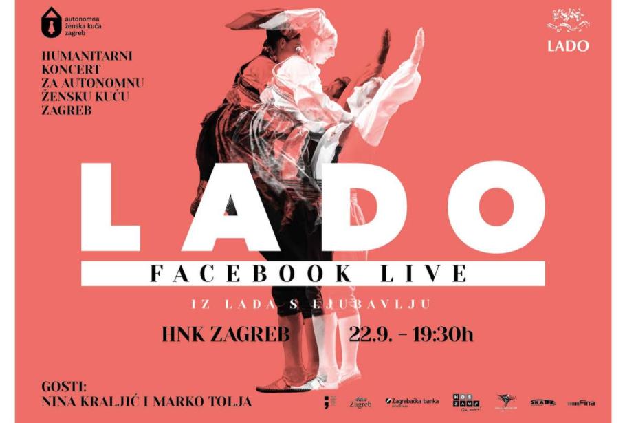 Humanitarni koncert Ansambla LADO za Autonomnu žensku kuću Zagreb pratite uživo i putem Facebooka