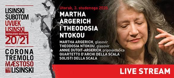 Prijenos koncerta Marthe Argerich uživo iz Lisinskog!