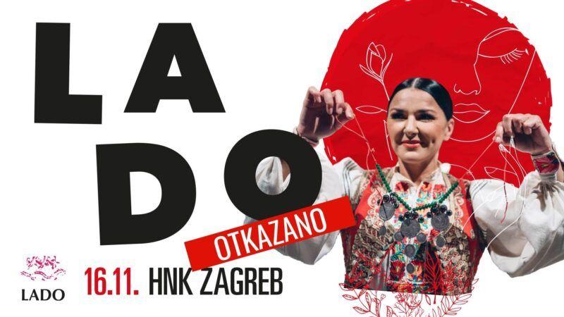 Otkazan večerašnji koncert Ansambla LADO u Hrvatskom narodnom kazalištu u Zagrebu