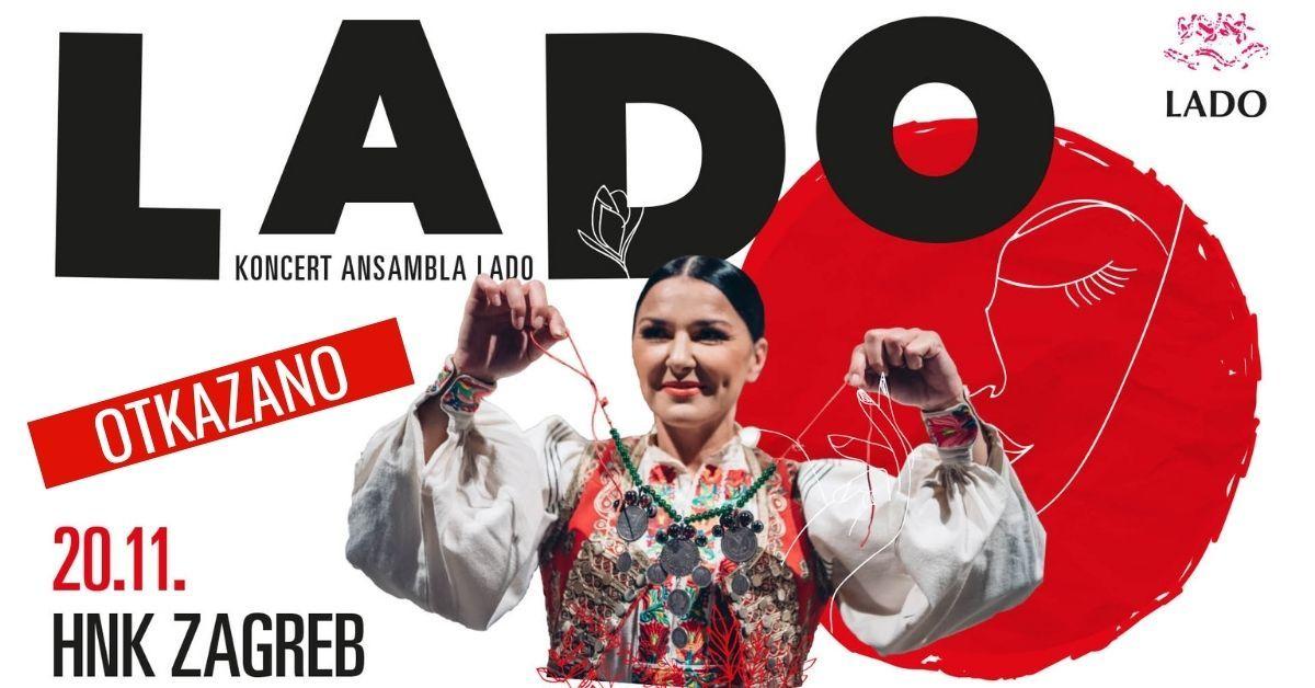 Ansambl LADO otkazuje i drugi koncert u Hrvatskom narodnom kazalištu u Zagrebu