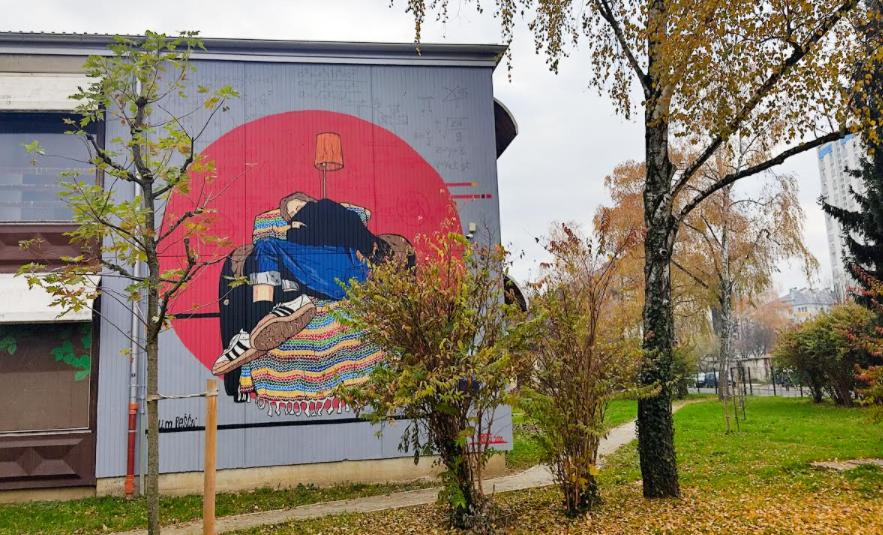 Osvanuo novi mural na Volovčici: Poznati zagrebački street-art umjetnik naslikao 'Djevojku koja sanja'