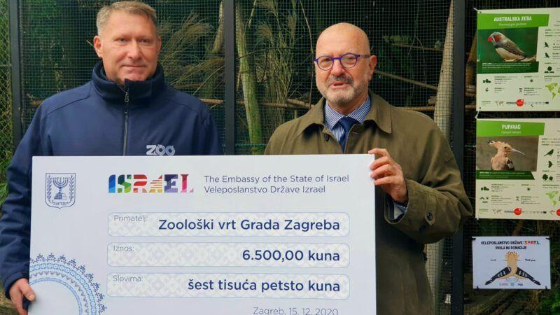 Veleposlanstvo Države Izrael Zoološkom vrtu grada Zagreba dalo je donaciju za pupavca, nacionalnu pticu Izraela