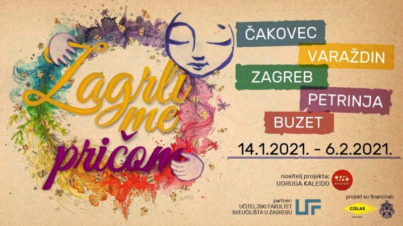 Zagrli me pričom: Projekt u kojem sudjeluje 150 studenata s UF u Čakovcu, Petrinji i Zagrebu te 150 odgojno obrazovnih djelatnika iz cijele Hrvatske