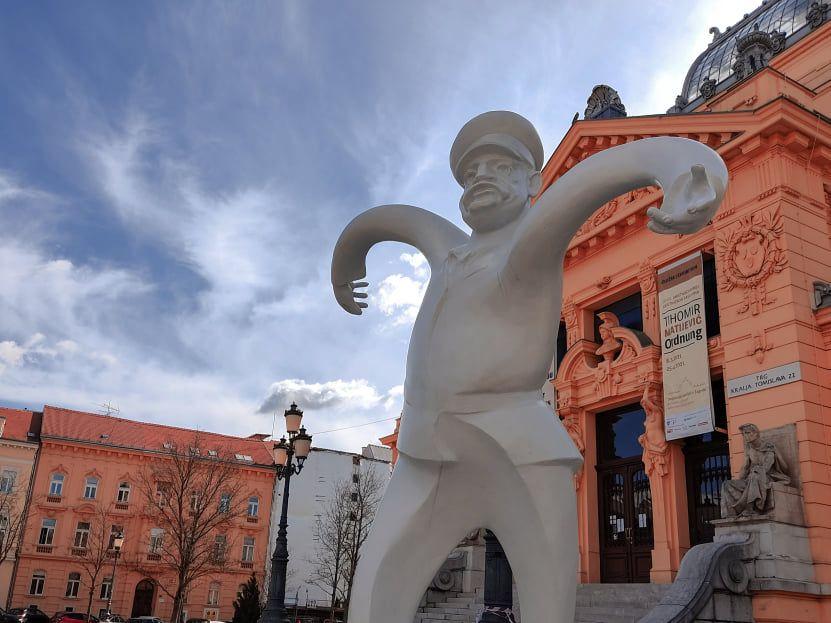 Umjetnost ispred Umjetničkog paviljona: 'Ordnung' Tihomira Matijevića