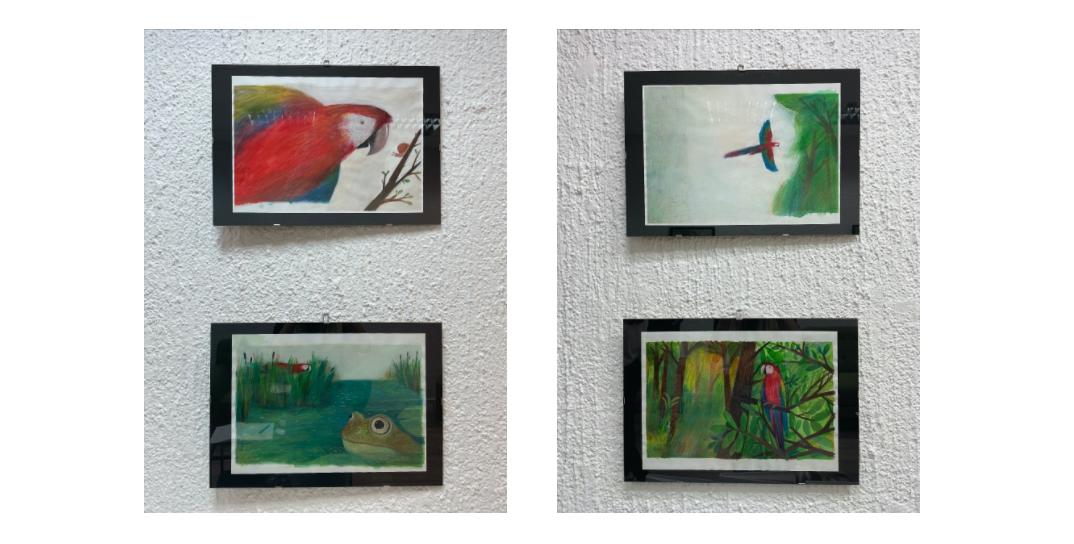Ivana Pipal: Izložba ilustracija iz slikovnice 'Ptica Rugalica'