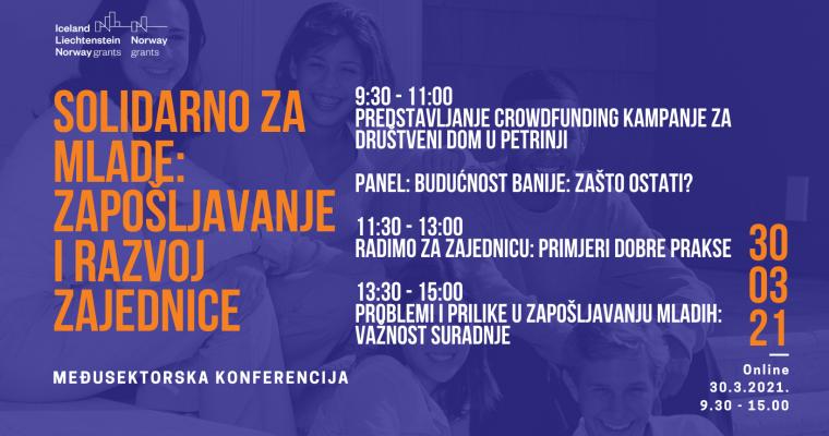 Poziv na međusektorsku konferenciju 'Solidarno za mlade: Zapošljavanje i razvoj zajednice'