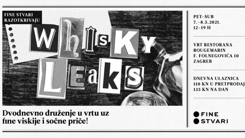 Whisky Leaks: Ne propustite sajam vrhunskih viskija u vrtu restorana Rougemarin