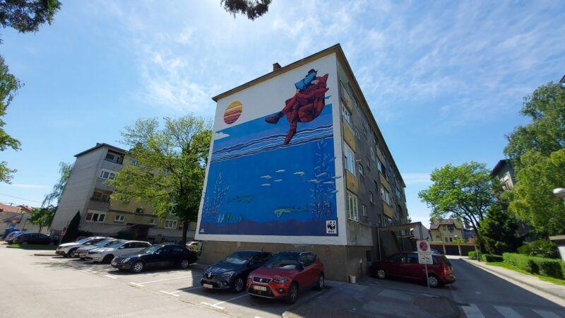 Svjetski dan mora i oceana: Zagreb dobio morski Augmented Reality mural