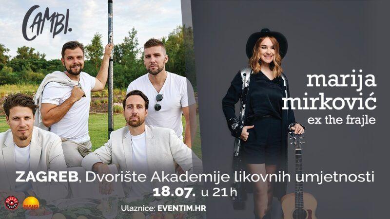 Odgođen koncert vokalnog sastava Cambi i Marije Mirković u dvorištu Akademije likovnih umjetnosti