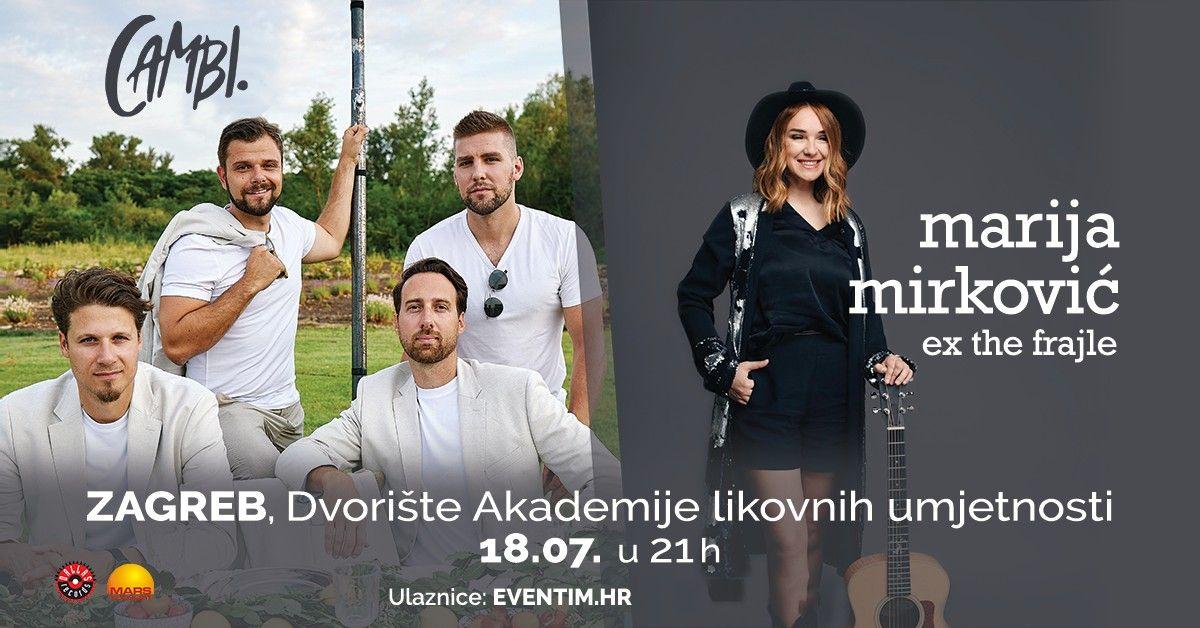 CAMBI i Marija Mirković (ex The Frajle) donose ljetnu glazbenu poslasticu u dvorište zagrebačke Akademije likovnih umjetnosti