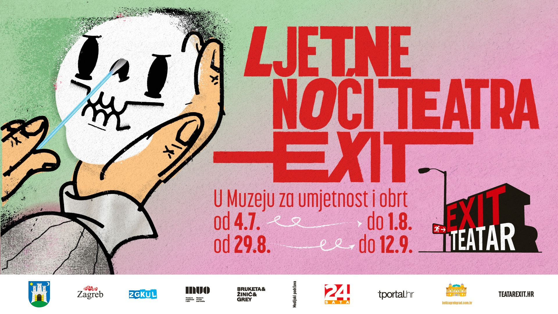 XII. Ljetne noći Teatra EXIT u Muzeju za umjetnost i obrt